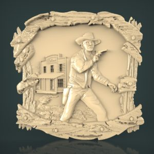 3d STL Model for CNC and 3d Printer Bas-Relief 962