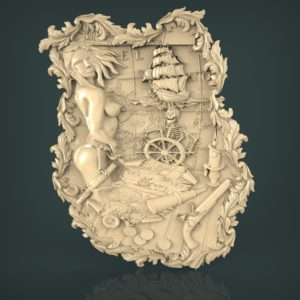 3d STL Model for CNC and 3d Printer Bas-Relief 963