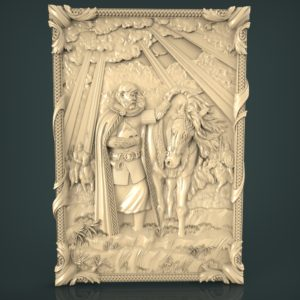 3d STL Model for CNC and 3d Printer Bas-Relief 964