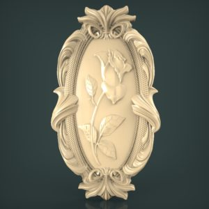 3d STL Model for CNC and 3d Printer Bas-Relief 966