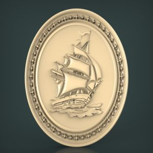 3d STL Model for CNC and 3d Printer Bas-Relief 967