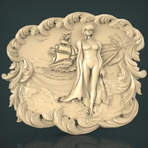 3d STL Model for CNC and 3d Printer Bas-Relief 975