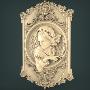 3d STL Model for CNC and 3d Printer Bas-Relief 980