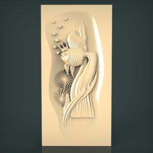 3d STL Model for CNC and 3d Printer Bas-Relief 983