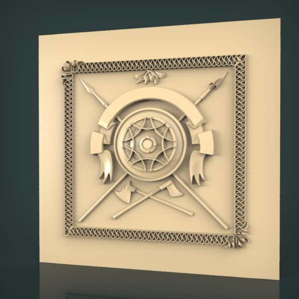 3d STL Model for CNC and 3d Printer Bas-Relief 987