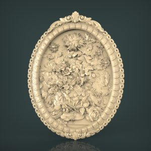 3d STL Model for CNC and 3d Printer Bas-Relief 994
