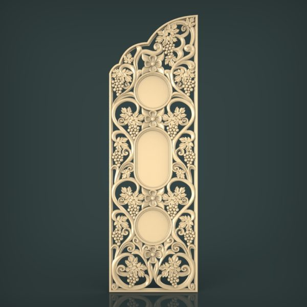 3d STL Model for CNC and 3d Printer Door 1217