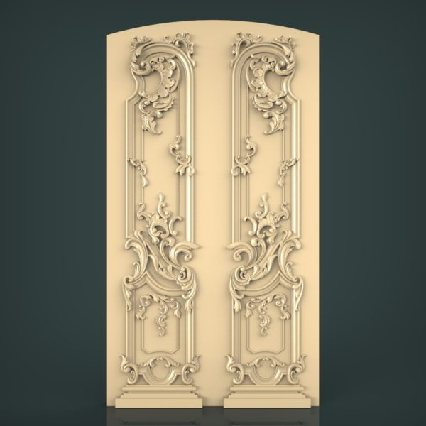 3d STL Model for CNC and 3d Printer Door 1219