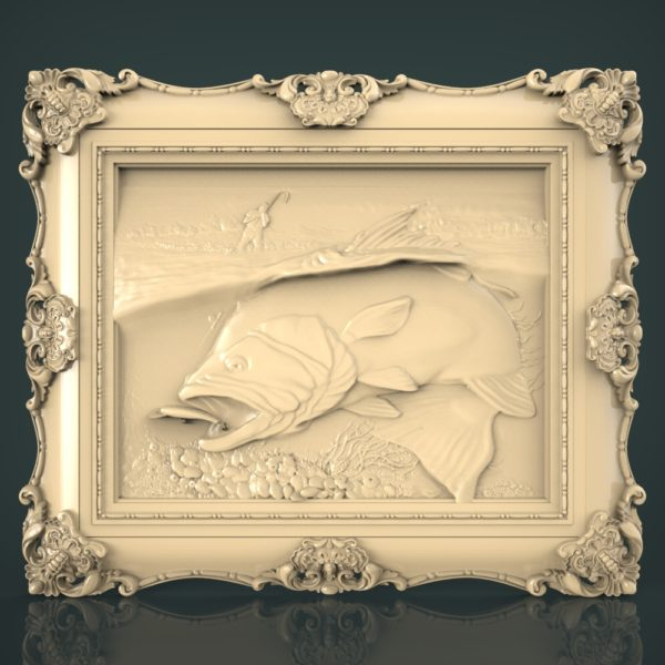3d STL Model for CNC and 3d Printer Fishing 1222