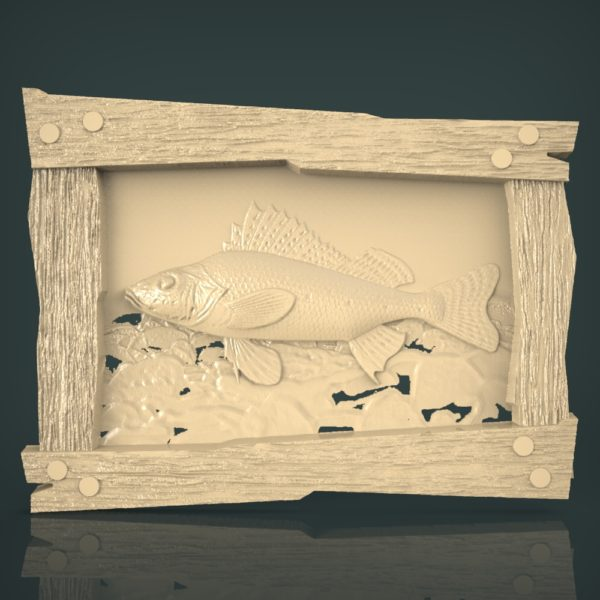 3d STL Model for CNC and 3d Printer Fishing 1223