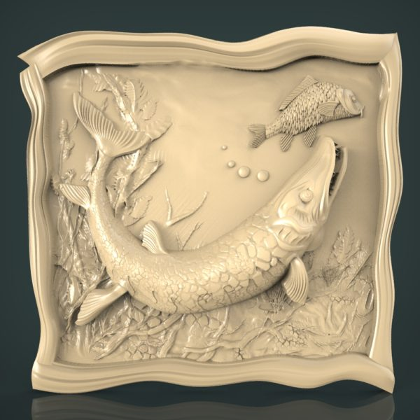 3d STL Model for CNC and 3d Printer Fishing 1225