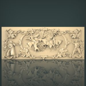 3d STL Model for CNC and 3d Printer Hunting 1232