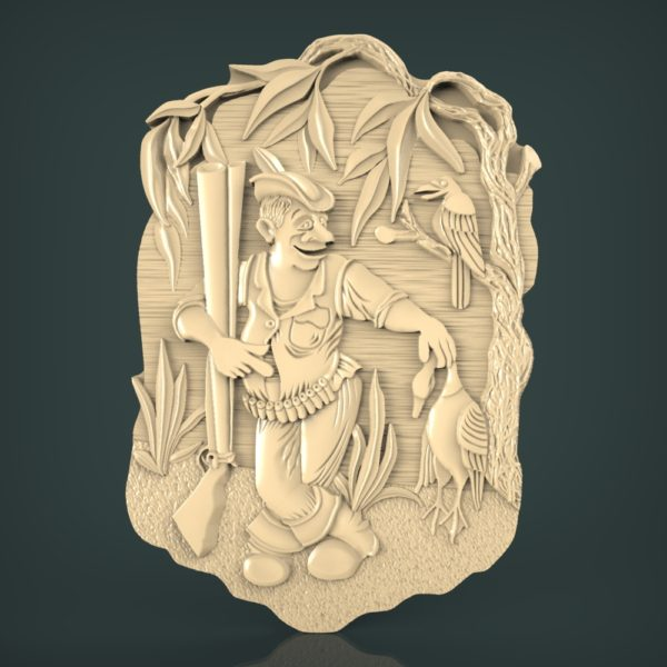 3d STL Model for CNC and 3d Printer Hunting 1233