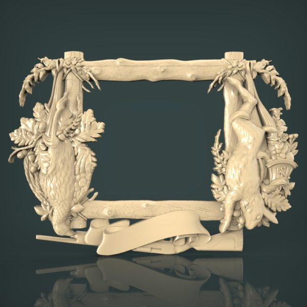 3d STL Model for CNC and 3d Printer Hunting 1236