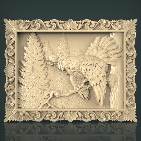 3d STL Model for CNC and 3d Printer Hunting 1237