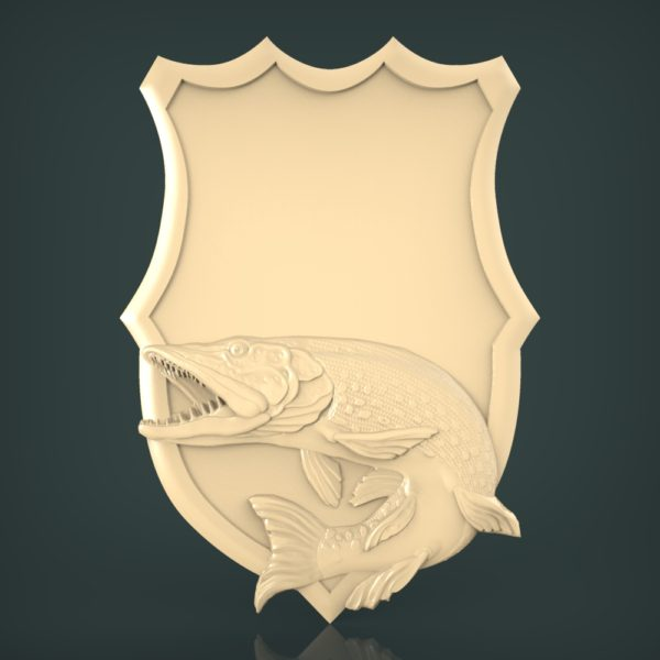 3d STL Model for CNC and 3d Printer Fishing 1245
