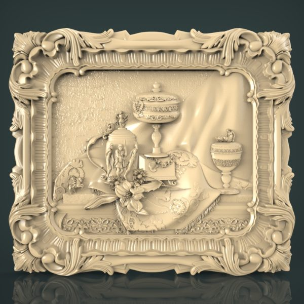 3d STL Model for CNC and 3d Printer Bas Relief 1246