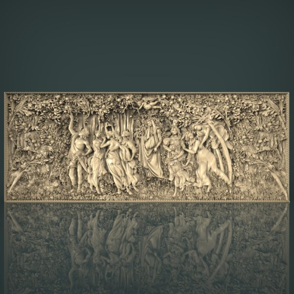 3d STL Model for CNC and 3d Printer Bas Relief 1247