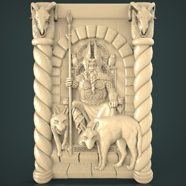 3d STL Model for CNC and 3d Printer Bas Relief 1248