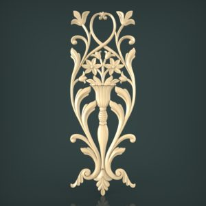 3d STL Model for CNC and 3d Printer Decor 1249