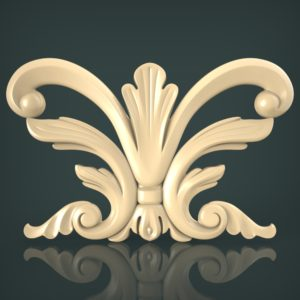 3d STL Model for CNC and 3d Printer Decor 1250