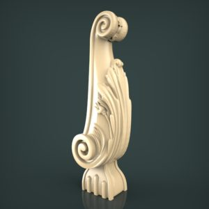 3d STL Model for CNC and 3d Printer Baluster 1321
