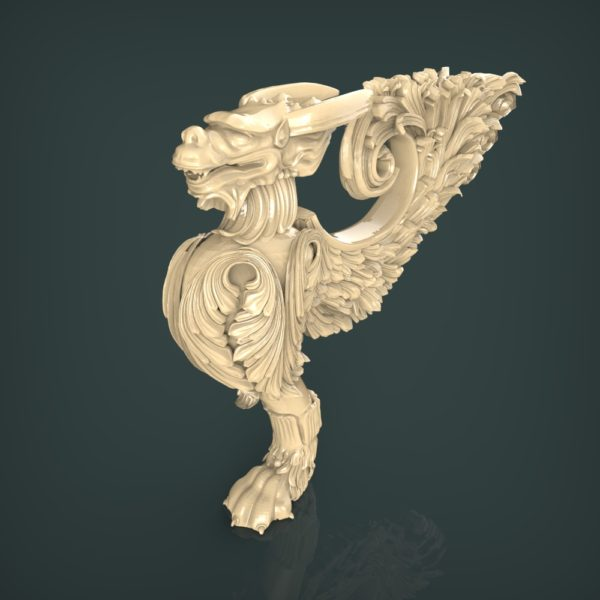 3d STL Model for CNC and 3d Printer Leg 1323
