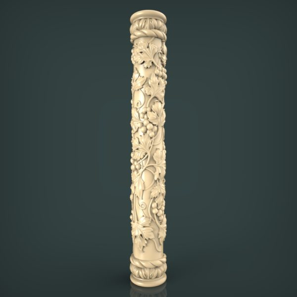 3d STL Model for CNC and 3d Printer Baluster 1324