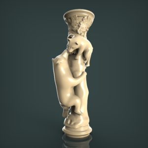3d STL Model for CNC and 3d Printer Baluster 1325