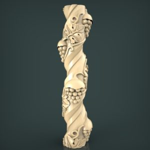 3d STL Model for CNC and 3d Printer Baluster 1327