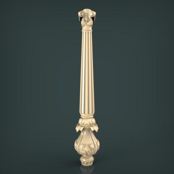3d STL Model for CNC and 3d Printer Baluster 1328