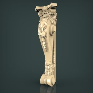 3d STL Model for CNC and 3d Printer Baluster 1330
