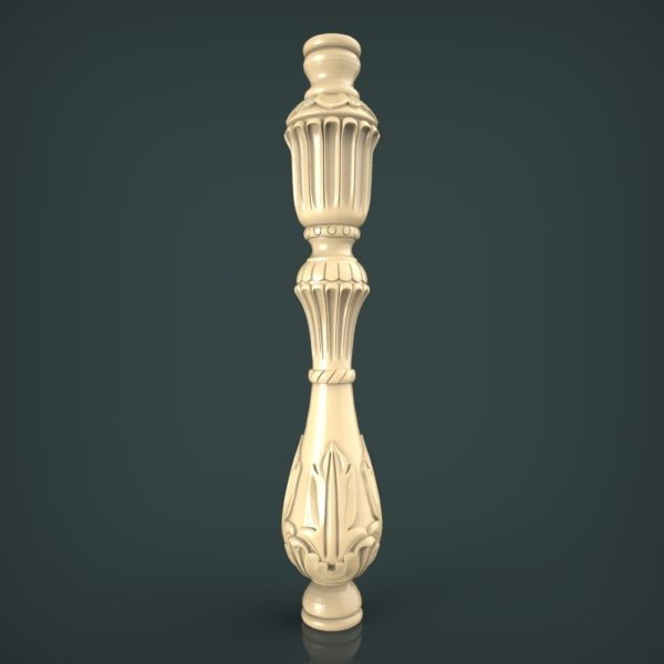 3d STL Model for CNC and 3d Printer Baluster 1332