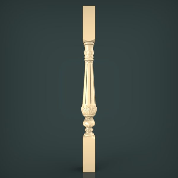 3d STL Model for CNC and 3d Printer Baluster 1341