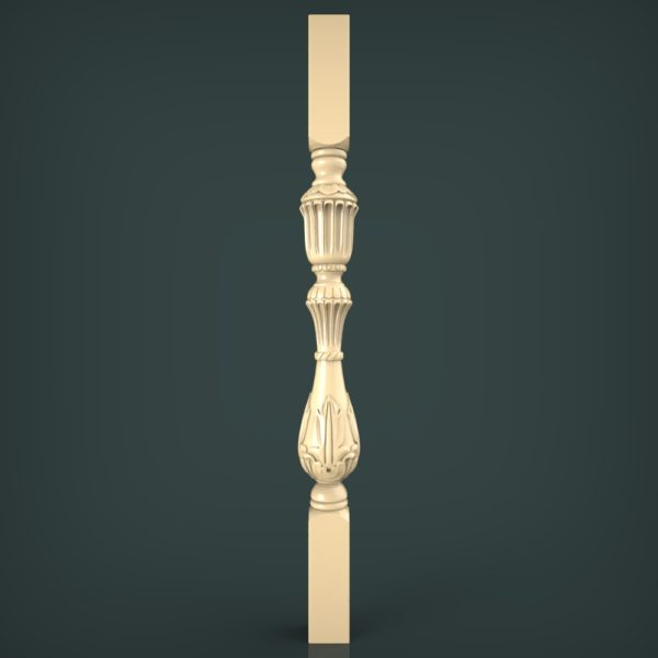 3d STL Model for CNC and 3d Printer Baluster 1342