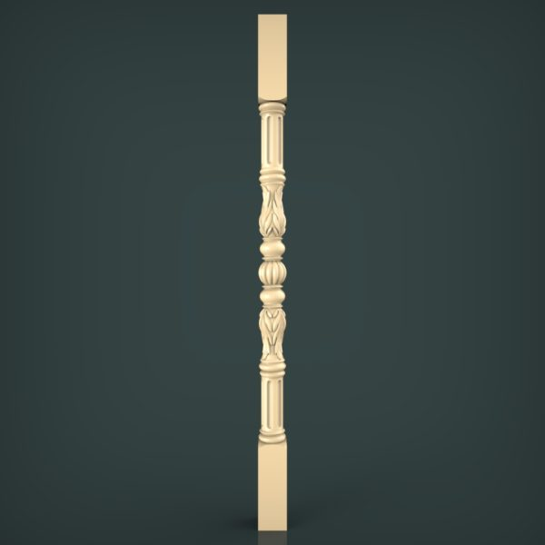 3d STL Model for CNC and 3d Printer Baluster 1345