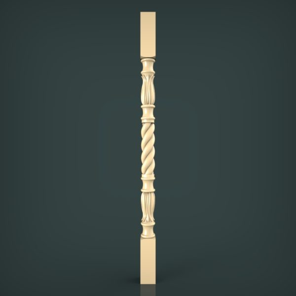 3d STL Model for CNC and 3d Printer Baluster 1347