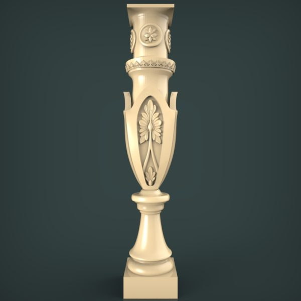 3d STL Model for CNC and 3d Printer Baluster 1353