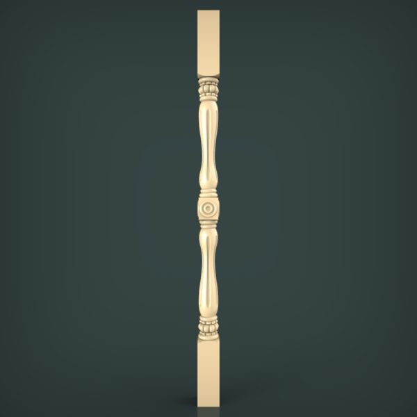 3d STL Model for CNC and 3d Printer Baluster 1354