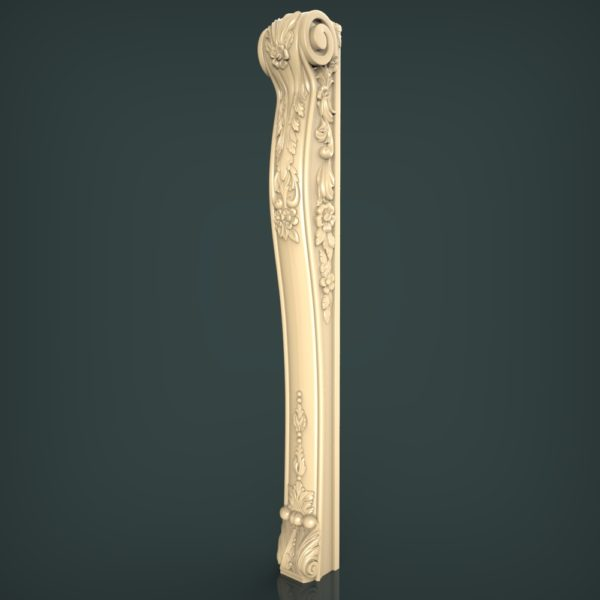 3d STL Model for CNC and 3d Printer Baluster 1363