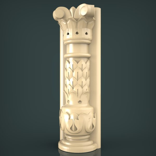 3d STL Model for CNC and 3d Printer Baluster 1403