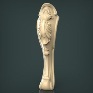 3d STL Model for CNC and 3d Printer Leg 1409
