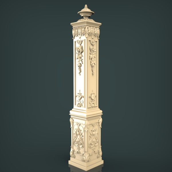 3d STL Model for CNC and 3d Printer Baluster 1413