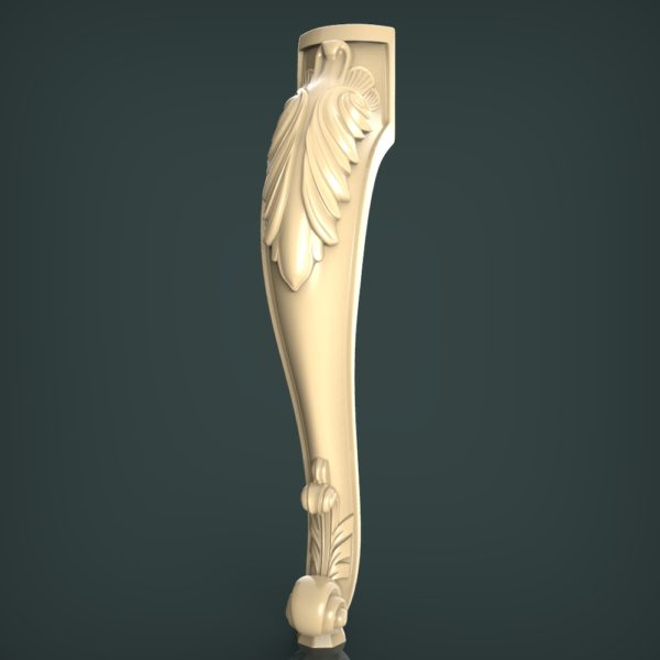 3d STL Model for CNC and 3d Printer Leg 1416