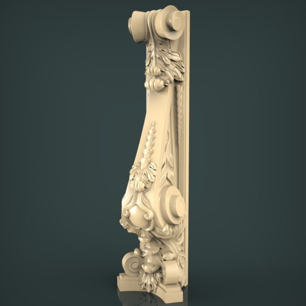 3d STL Model for CNC and 3d Printer Baluster 1418