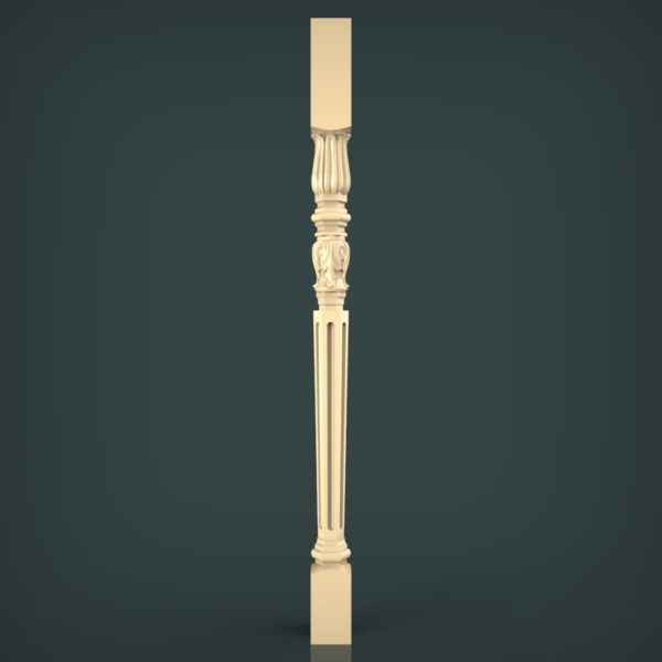 3d STL Model for CNC and 3d Printer Baluster 1422