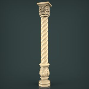 3d STL Model for CNC and 3d Printer Baluster 1426