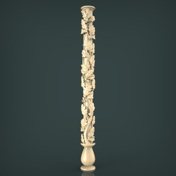 3d STL Model for CNC and 3d Printer Baluster 1427