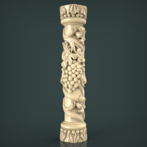 3d STL Model for CNC and 3d Printer Baluster 1429