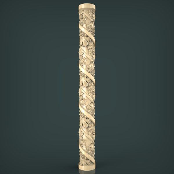 3d STL Model for CNC and 3d Printer Baluster 1430
